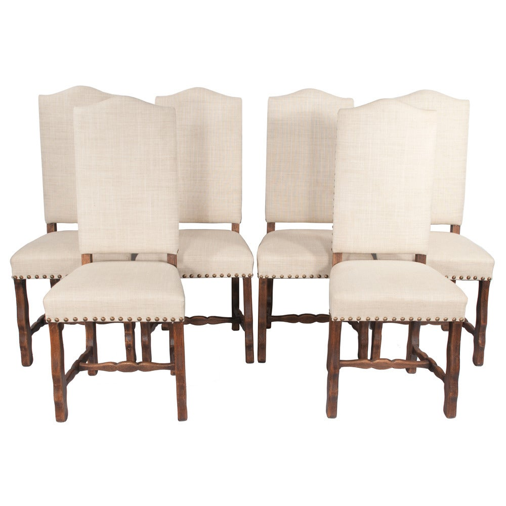 Country french dining chairs s 6 at 1stdibs for 6 dining room chairs