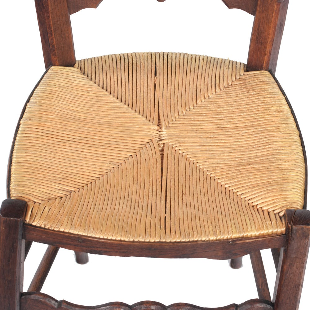 country french rush seat dining chairs at 1stdibs