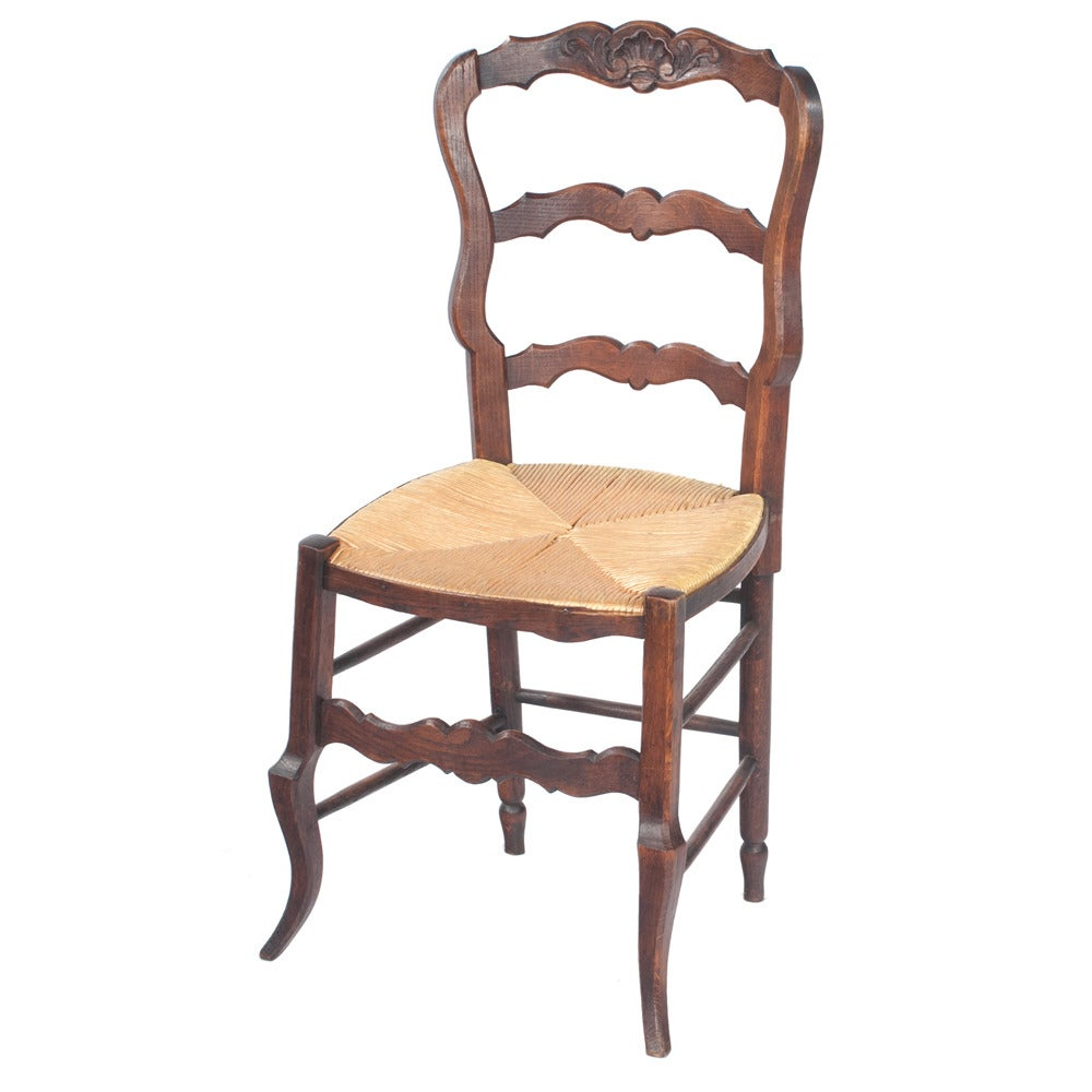 country french rush seat dining chairs for sale at 1stdibs