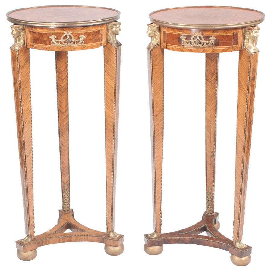 French Empire-style Pedestals, Pair For Sale