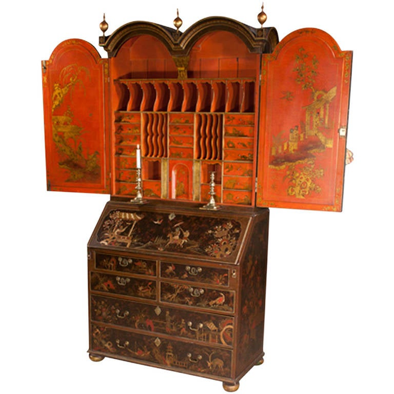 19th Century Queen Anne Chinoiserie Secretary At 1stdibs