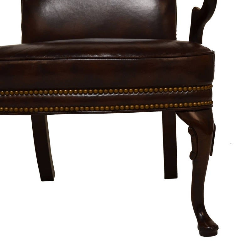 Pair Of Queen Anne Armchairs For Sale At 1stdibs