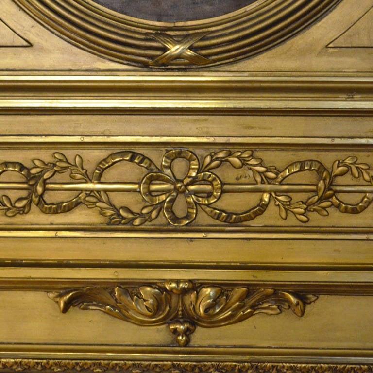 French Louis XVI Gilt Trumeau Mirror For Sale