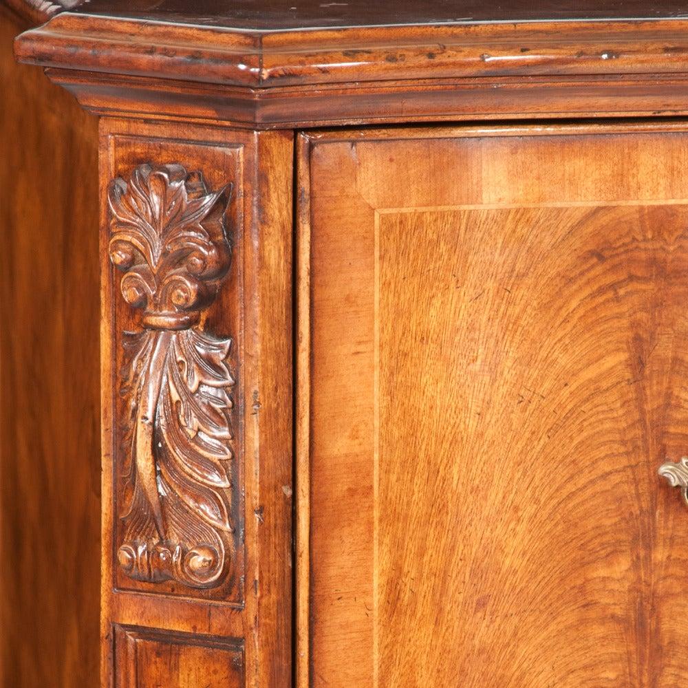 Sheraton Walnut Filing Cabinet For Sale
