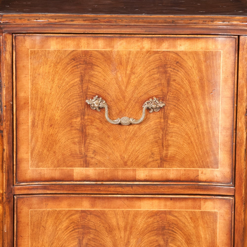 English Walnut Filing Cabinet For Sale