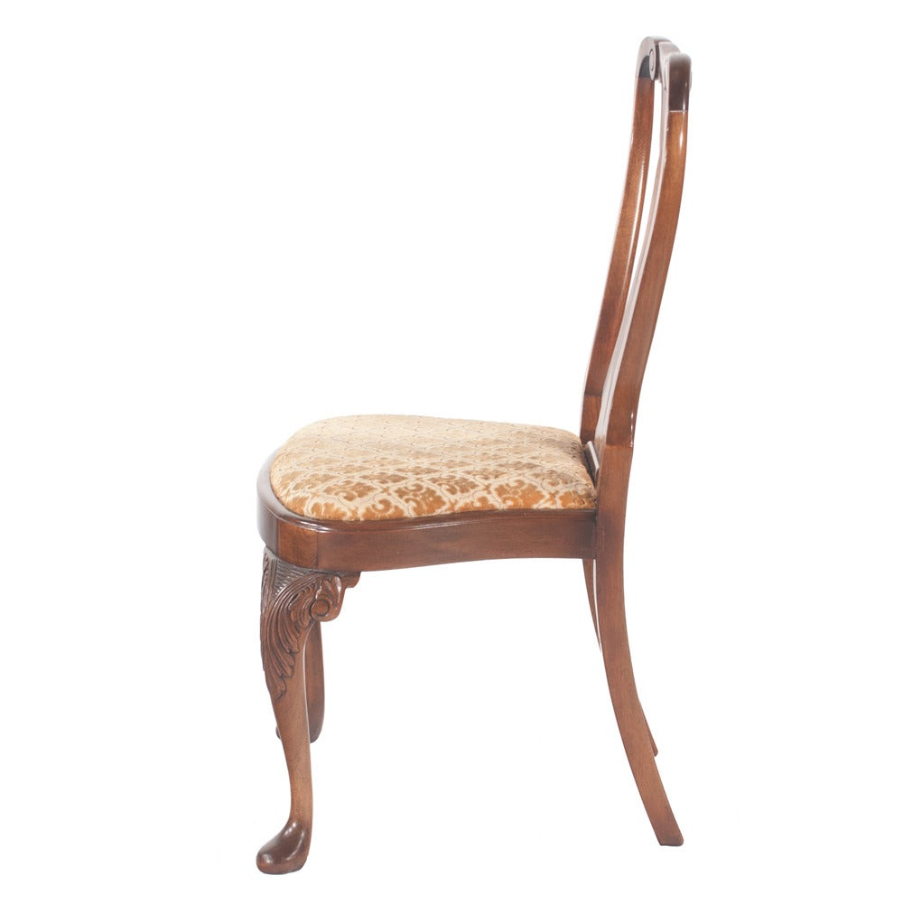 queen anne style dining chairs set of six at 1stdibs