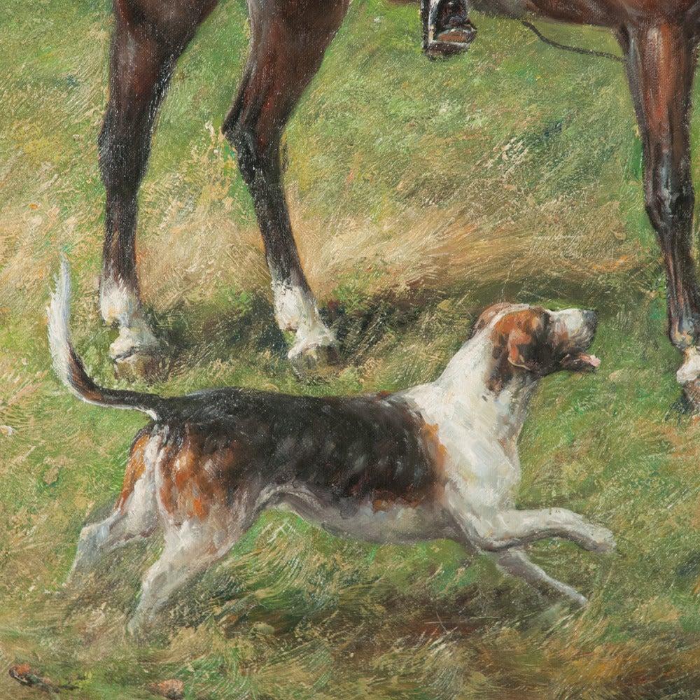 Original Oil on Canvas Fox Hunt Scene For Sale 2