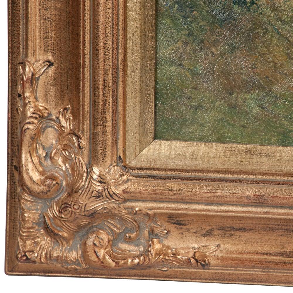 Original Oil on Canvas Fox Hunt Scene In Good Condition For Sale In Lawrenceburg, TN