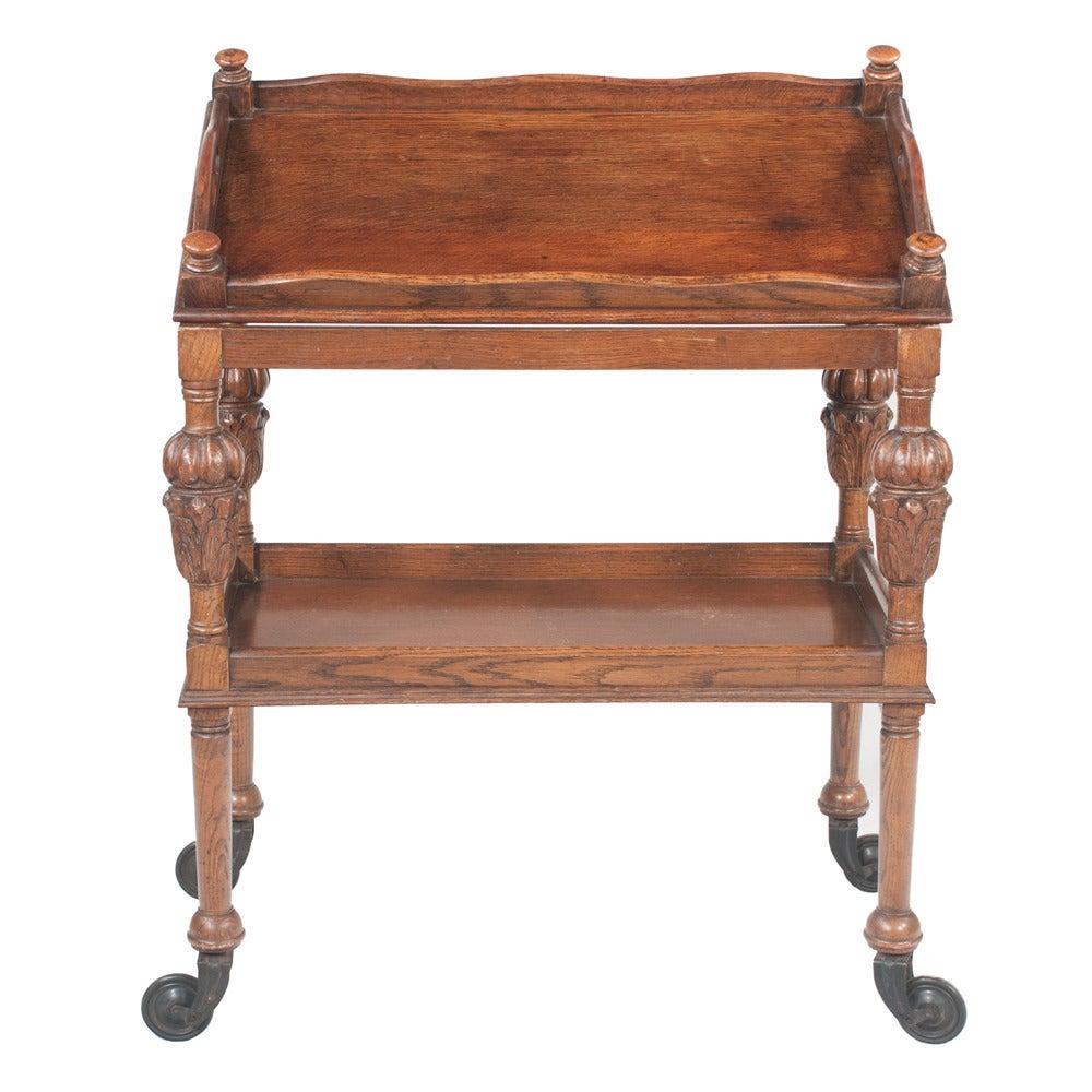Jacobean-Style Tea Trolley For Sale 5