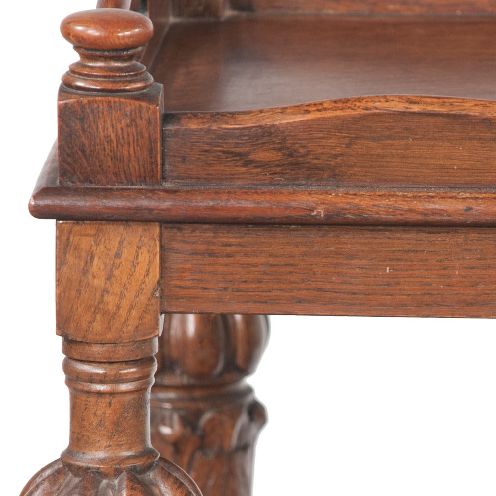 Early 20th Century Jacobean-Style Tea Trolley For Sale