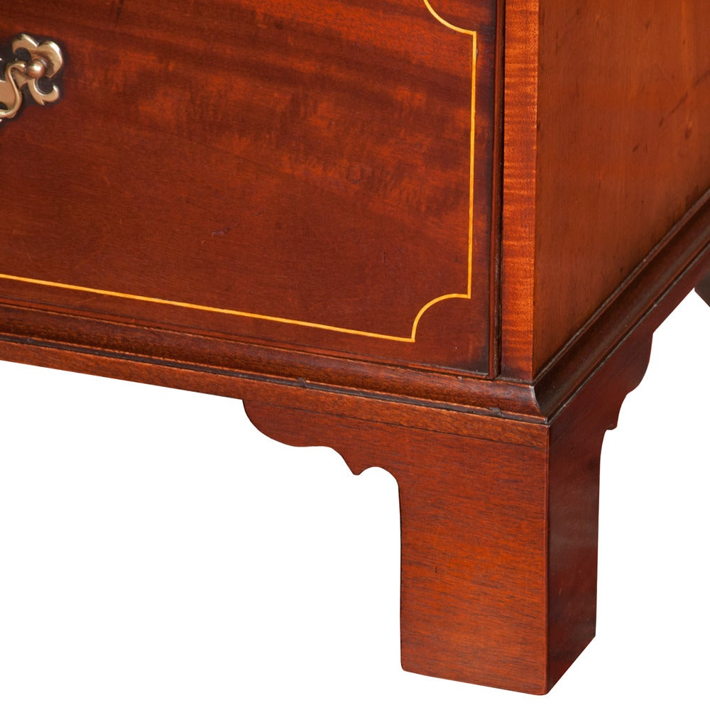 Chippendale Mahogany Linen Press For Sale 1