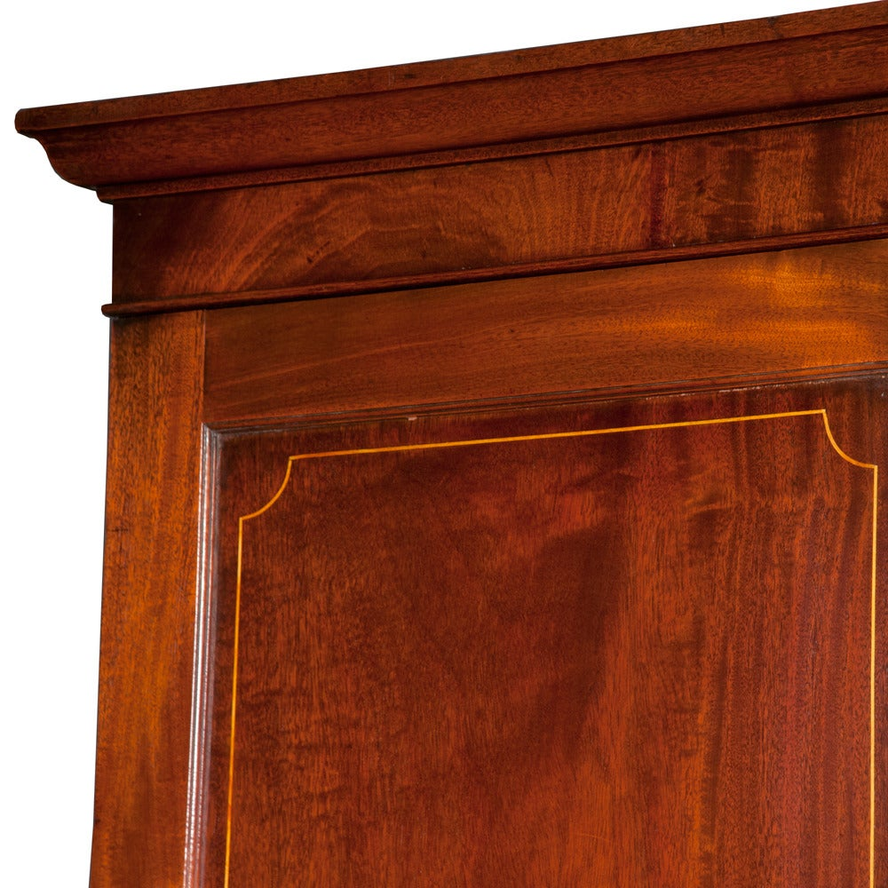 Mid-19th Century Chippendale Mahogany Linen Press For Sale