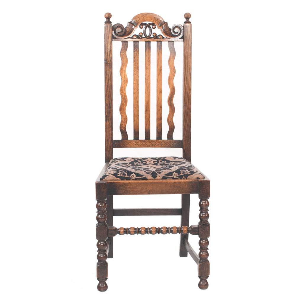 Jacobean Oak Dining Chairs Set Of Six For Sale At 1stdibs