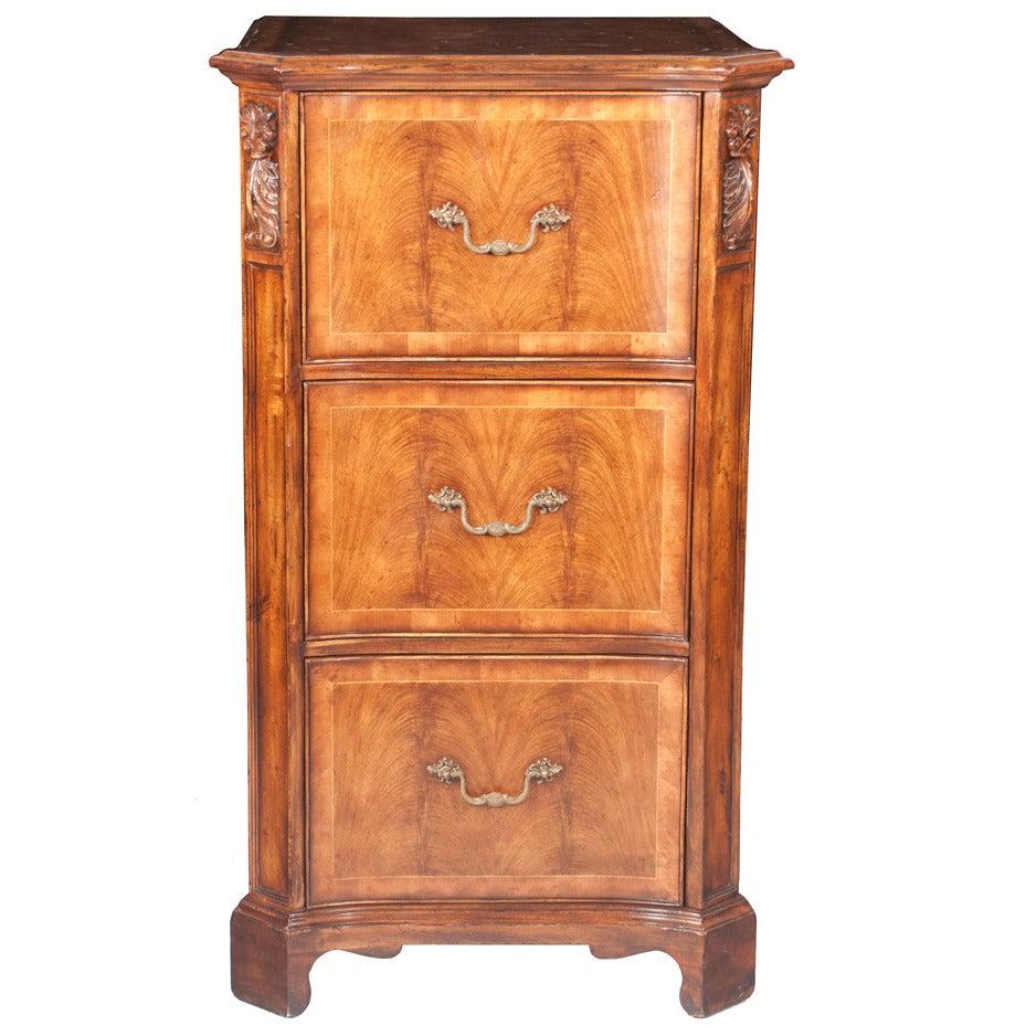 Walnut Filing Cabinet For Sale