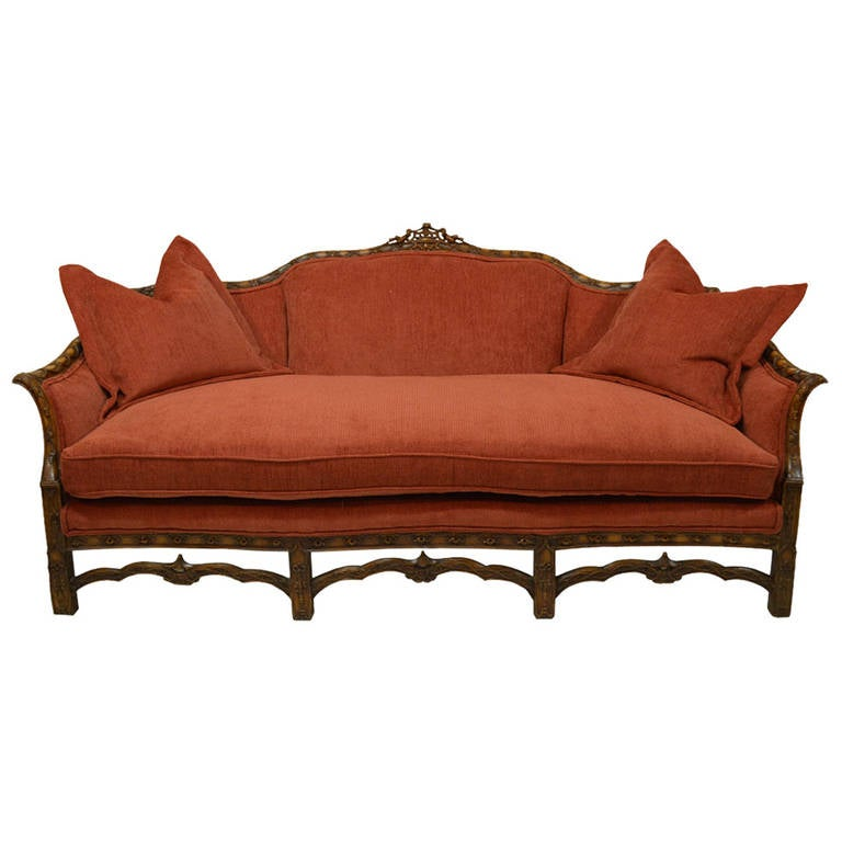 19th century chinese chippendale style sofa at 1stdibs for Oriental style sofas