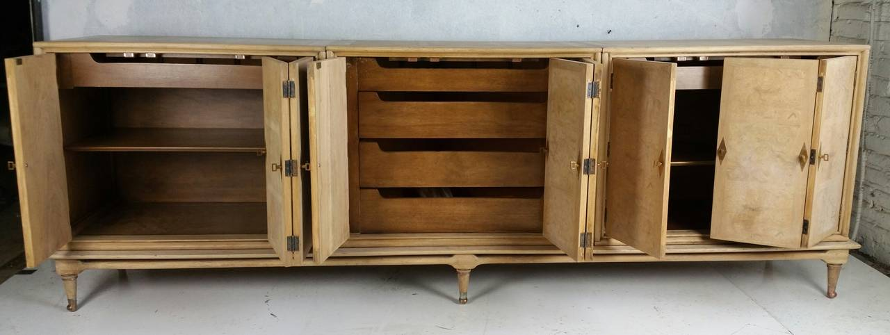 Mastercraft Burl Wood Cabinet Sideboard At 1stdibs