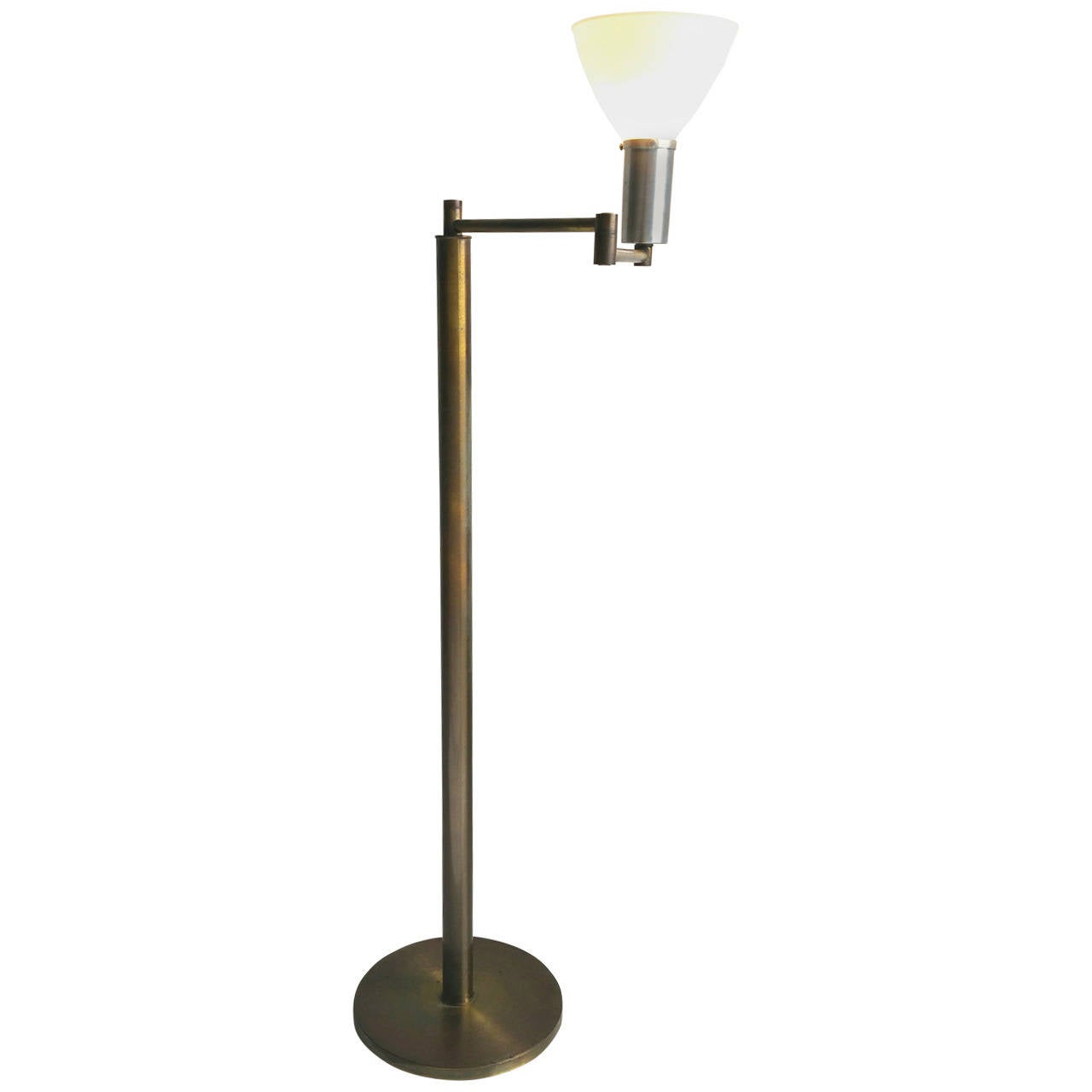 Early 1930s bauhaus swing arm floor lamp by walter von for Bauhaus lampen