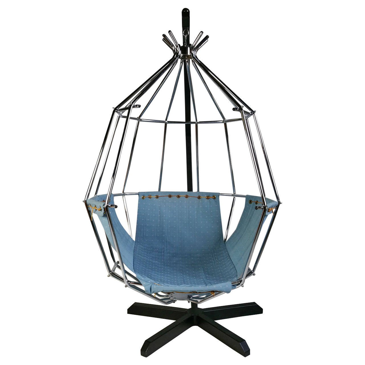 Ib Arberg Hanging Birdcage Chair Or Parrot Circa 1970 For