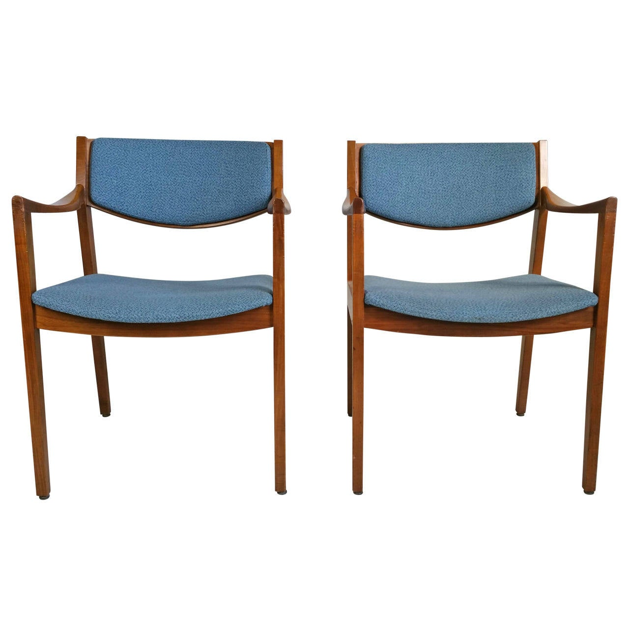 Mid Century Modern Style Chairs Pair Of Midcentury Modern Gunlock Arm Chairs In The Jens Risom