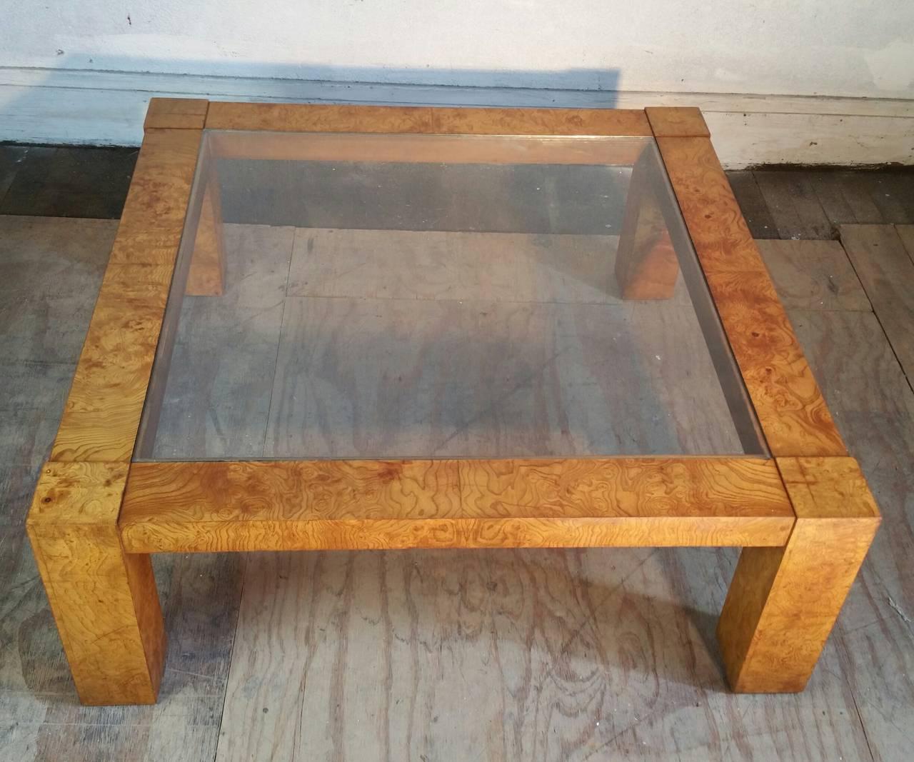 Lane Burl Wood Coffee Table: Milo Baughman For Lane Modernist Burl Cocktail Table For
