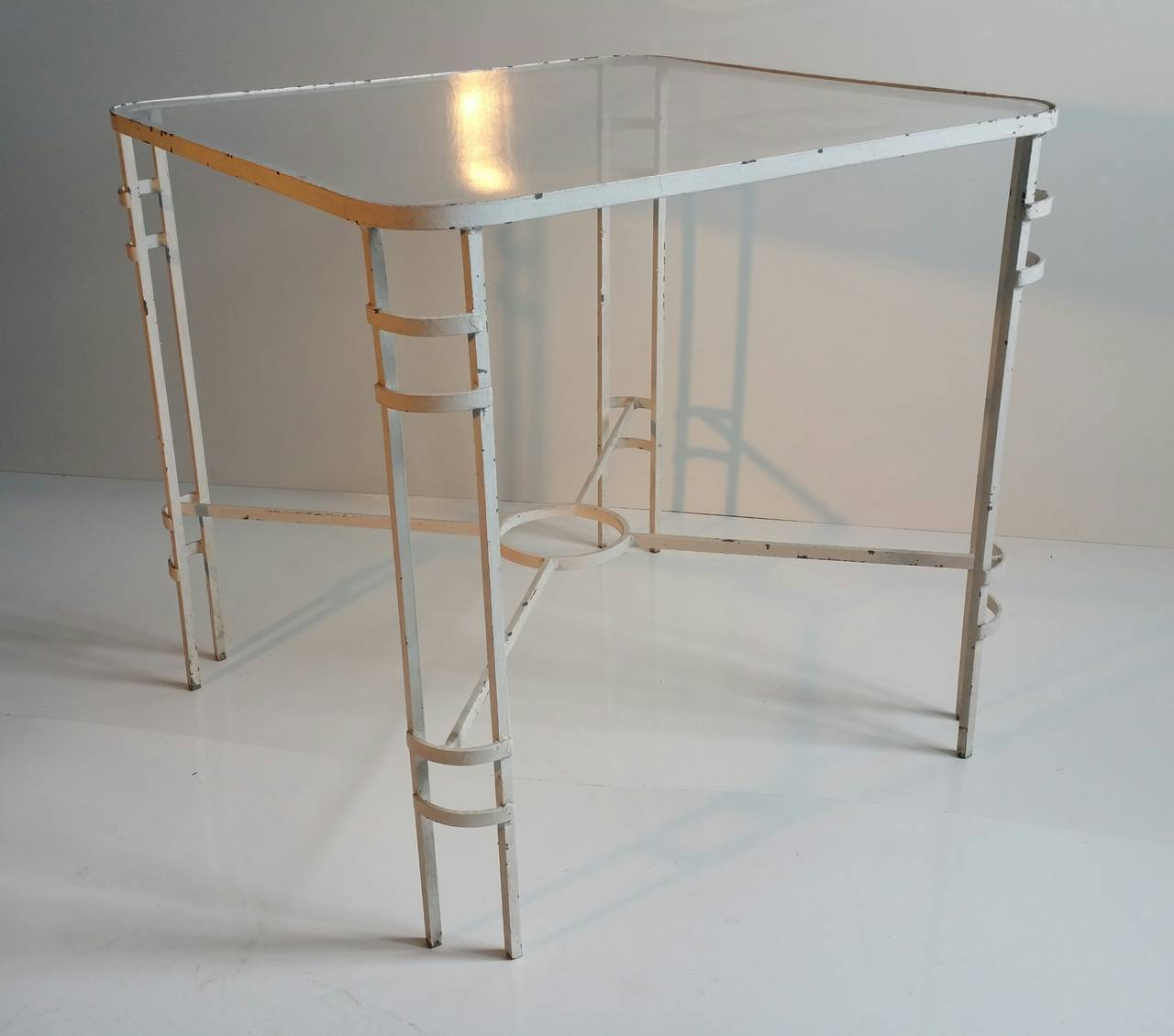 Modernist French Or German Wrought Iron Table For Sale At