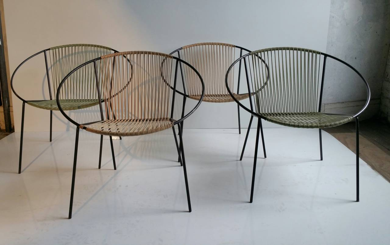 Classic mid century modern outdoor hoop chairs by for Modern garden furniture