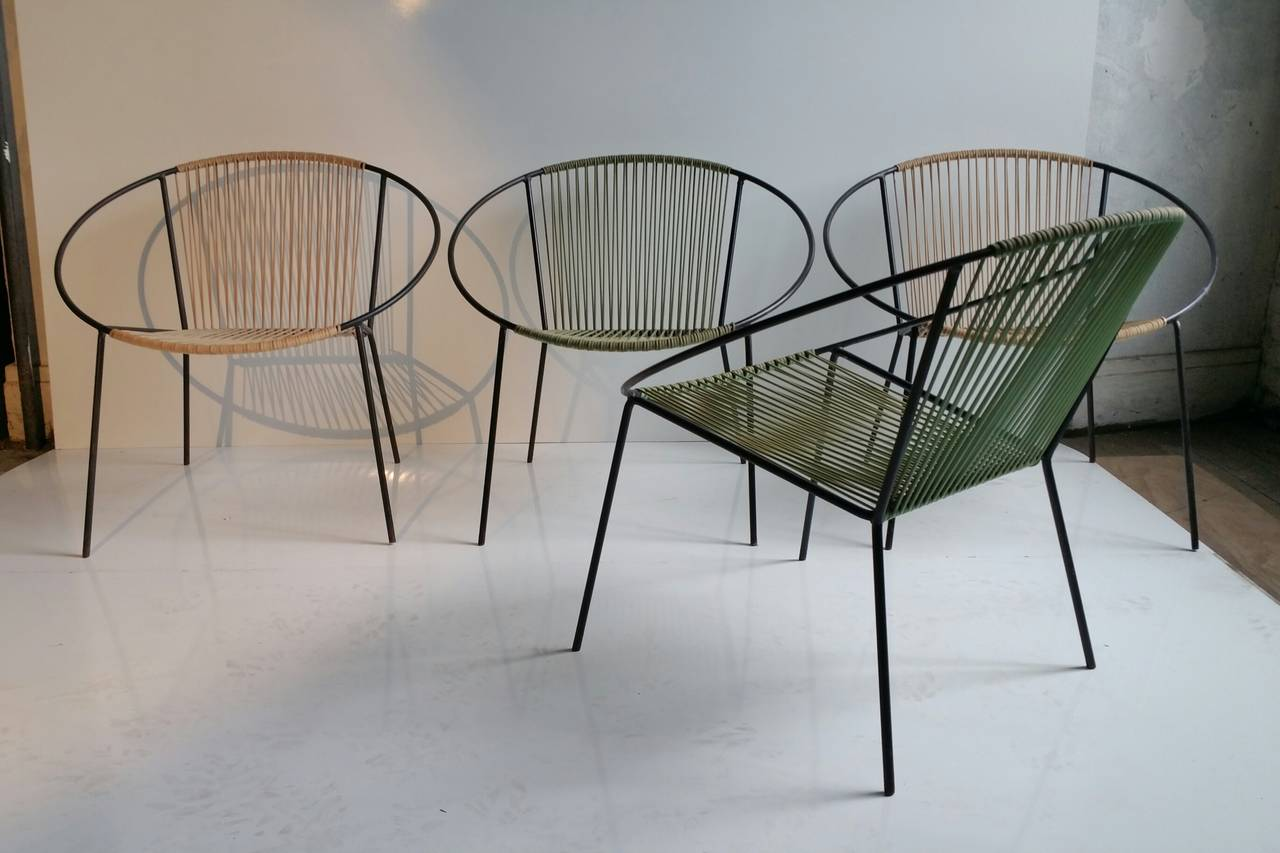 "Classic Mid Century Modern Outdoor ""Hoop"" Chairs by Salterini at 1s"