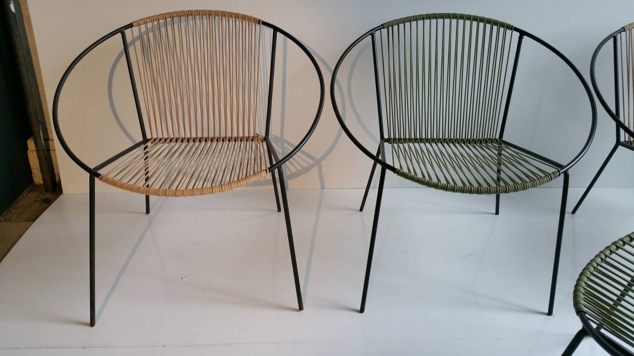 Classic mid century modern outdoor hoop chairs by salterini at 1stdibs - Contemporary patio furniture the right outdoor furniture ...
