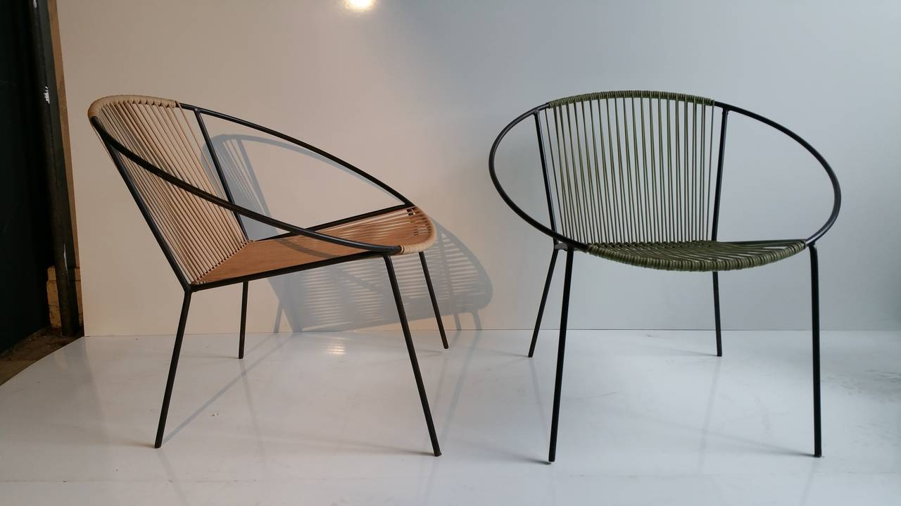 Classic mid century modern outdoor hoop chairs by for Classic mid century chairs