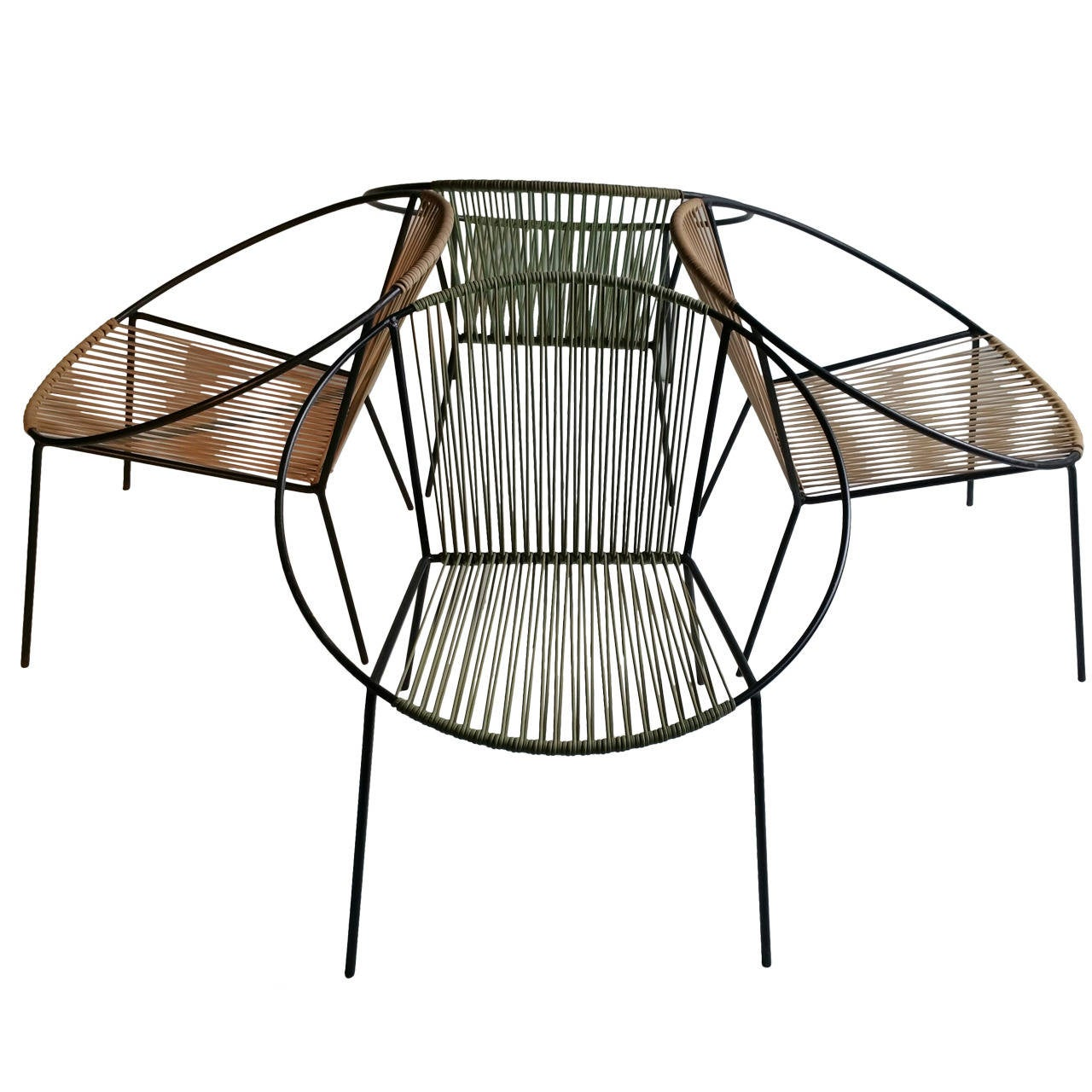 """Classic Mid Century Modern Outdoor """"Hoop"""" Chairs by"""