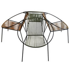 """Classic Mid-Century Modern Outdoor """"Hoop"""" Chairs by Salterini"""