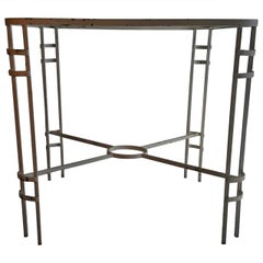 Modernist French or German Wrought Iron Table