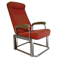 Henry Dreyfuss Industrial or Machine Age Lounge Chair for Pullman Train