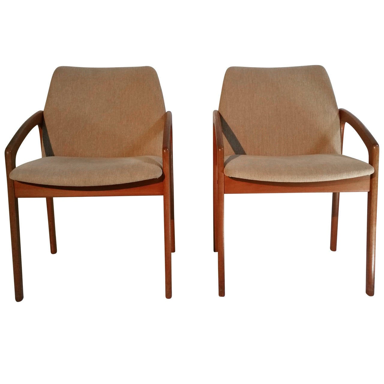 Pair Of Kai Kristiansen Teak Chairs Denmark At 1stdibs
