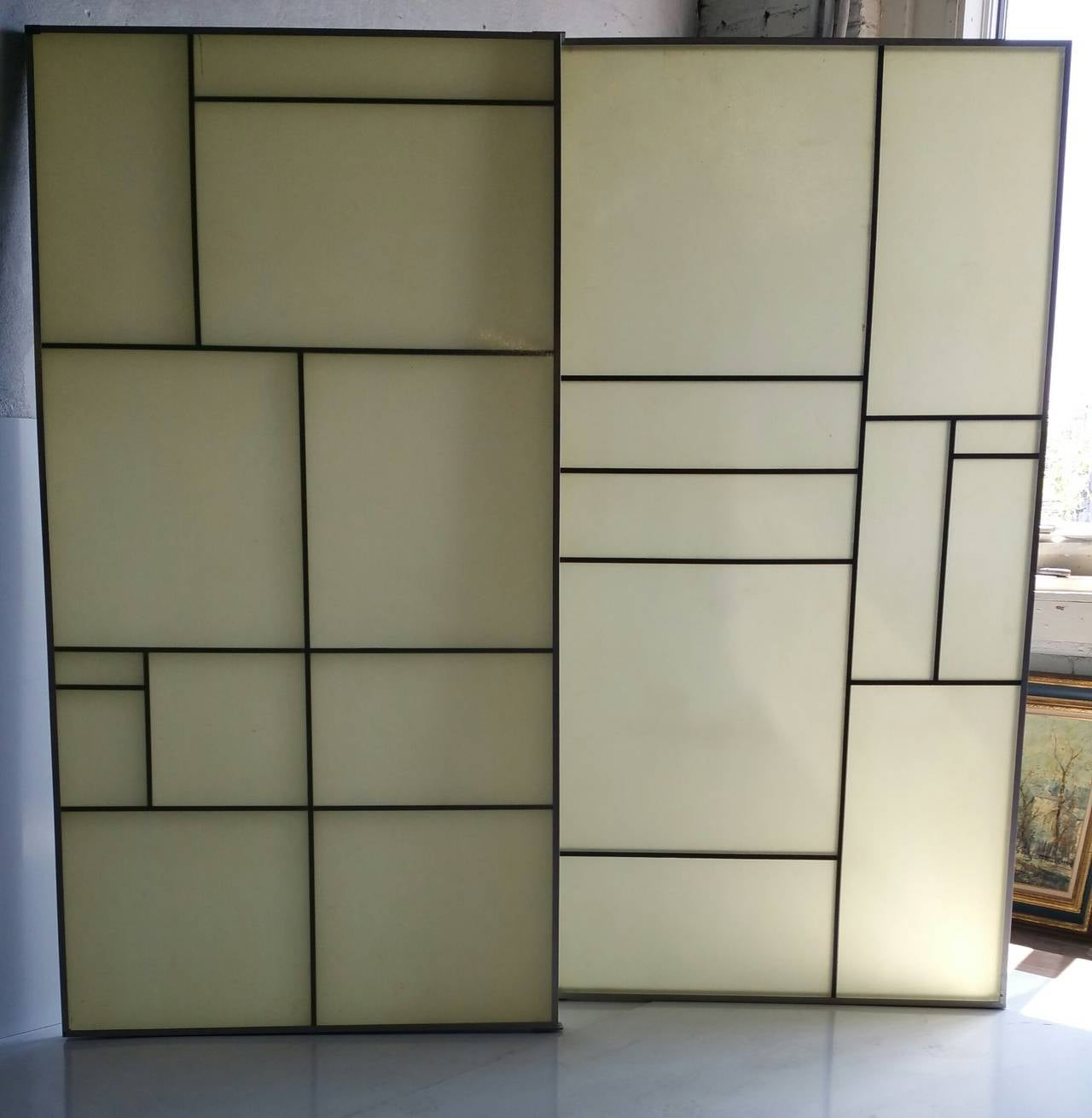 Architectural Aluminum and Fiberglass Panels or Screen, Mondrian Design For Sale 2