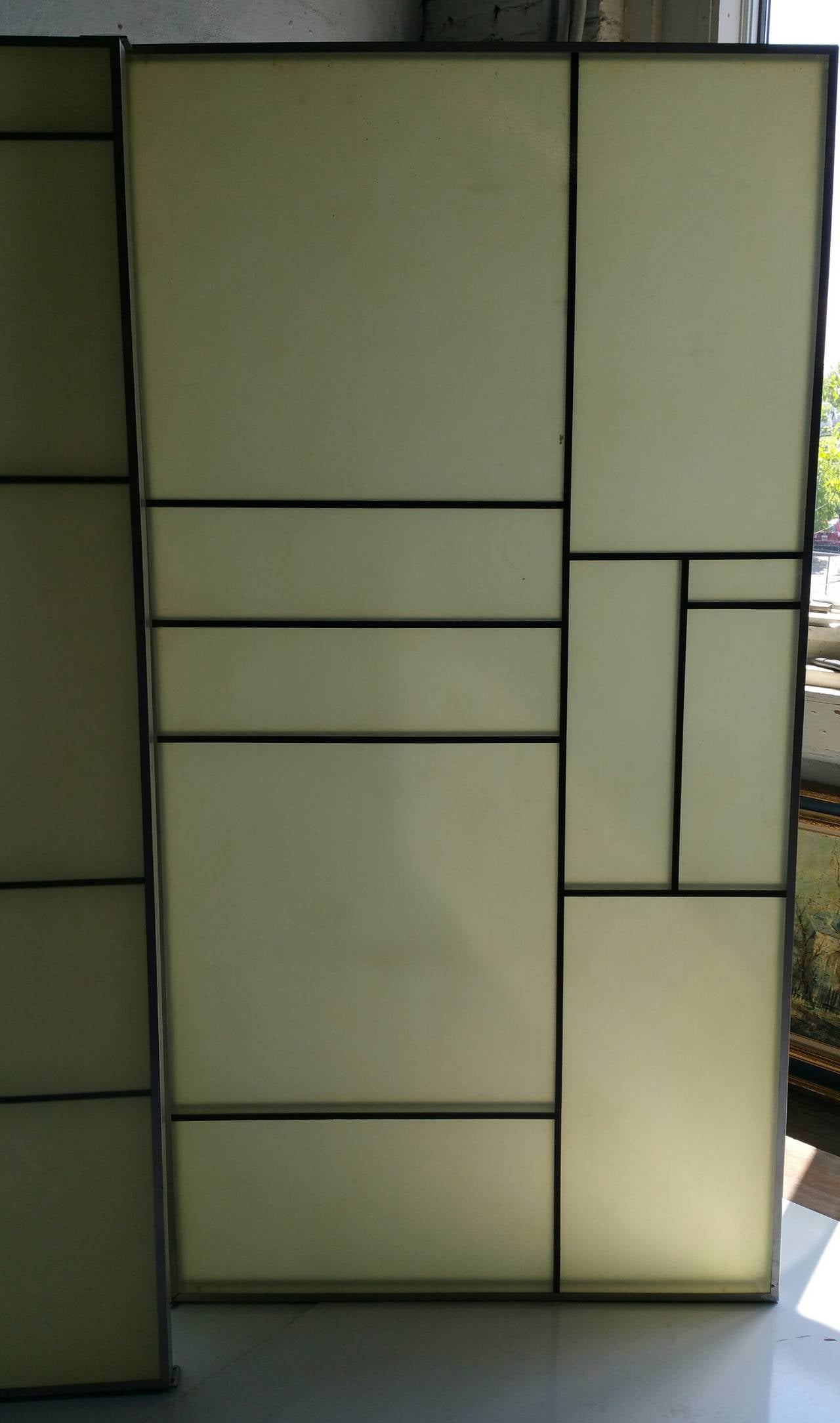 Architectural Aluminum and Fiberglass Panels or Screen, Mondrian Design For Sale 1
