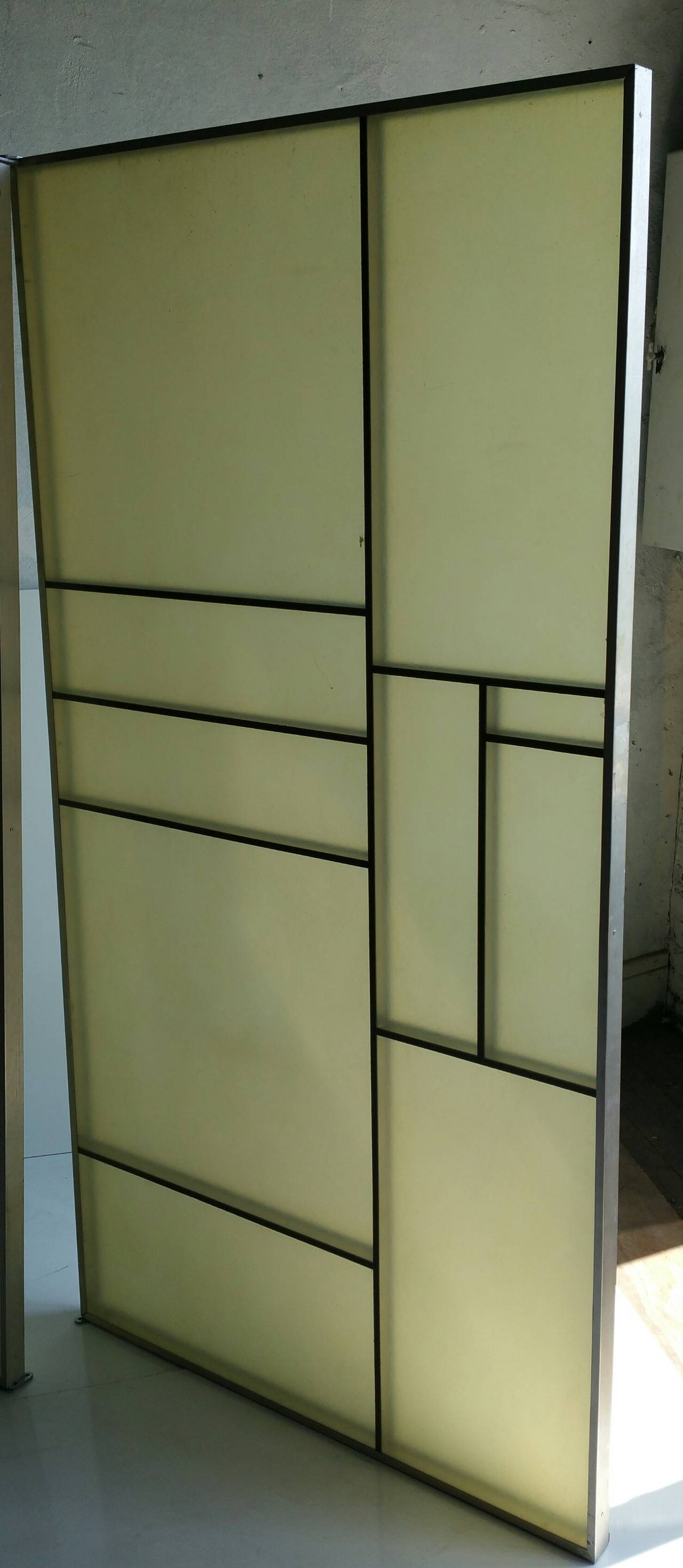 American Architectural Aluminum and Fiberglass Panels or Screen, Mondrian Design For Sale