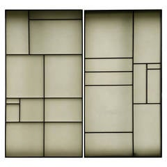 Architectural Aluminum and Fiberglass Panels or Screen, Mondrian Design