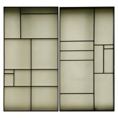 Architectural Aluminum and Fiberglass Panels or Screen, Mondrian Design