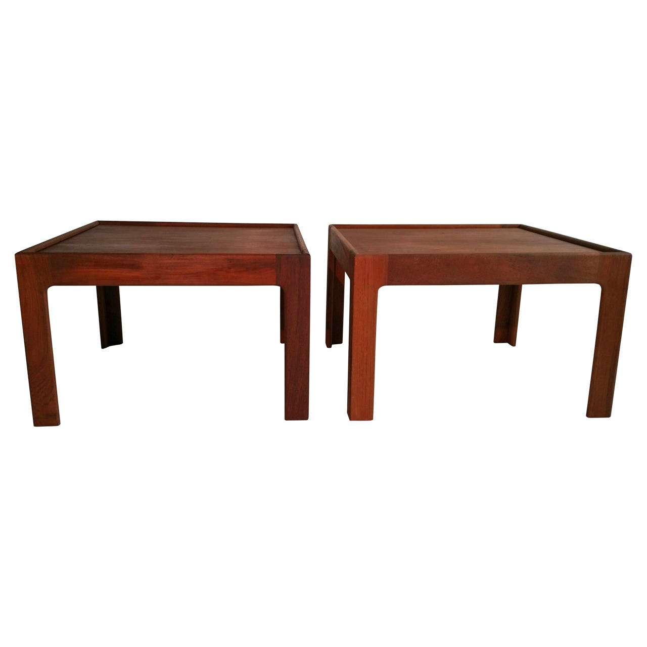 Pair of Side Tables by Illum Wikkelso, Denmark
