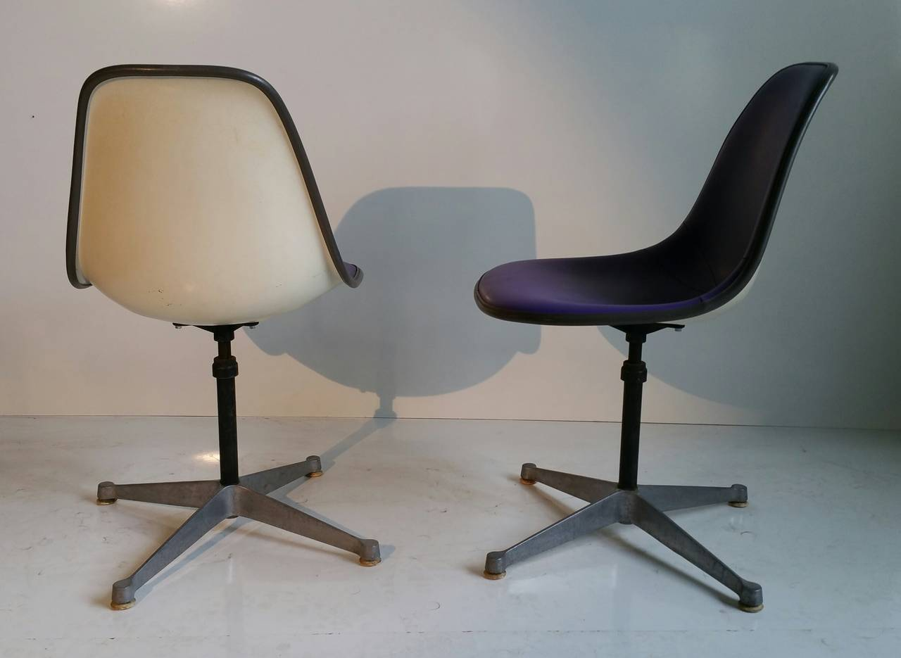 Pair of Charles and Ray Eames Adjustable Swivel Chairs 3