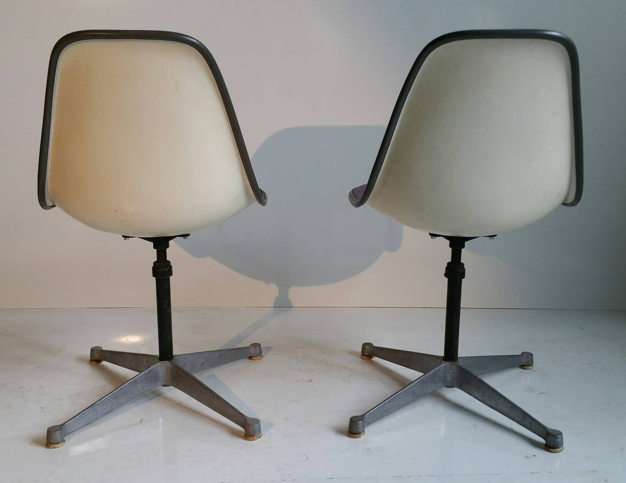 Pair of Charles and Ray Eames Adjustable Swivel Chairs 2