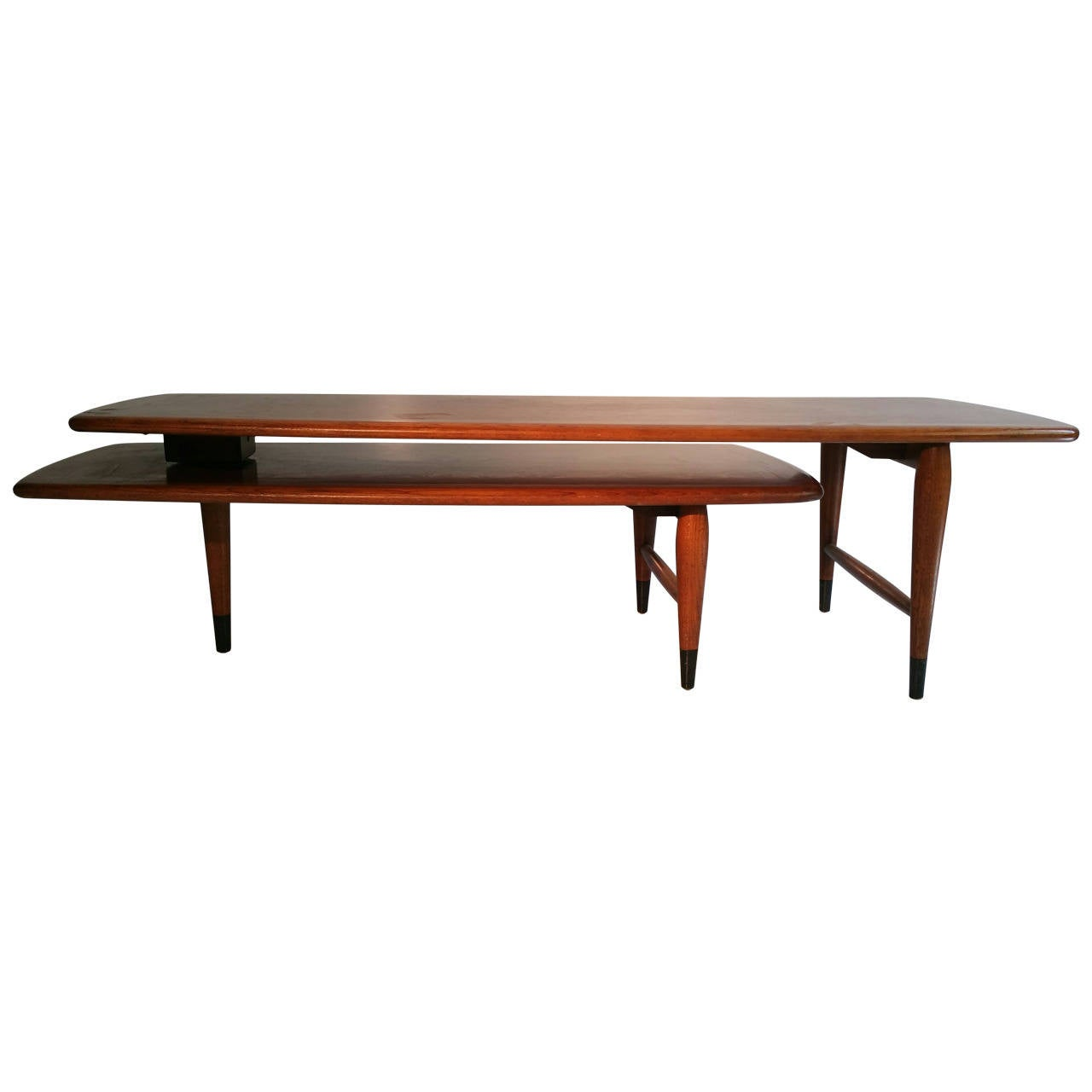 Mid century modern switchblade coffee table lane acclaim for Cocktail tables and coffee tables