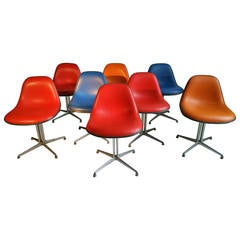 Set of Eight Eames and Girard Side Chairs for La Fonda by Herman Miller