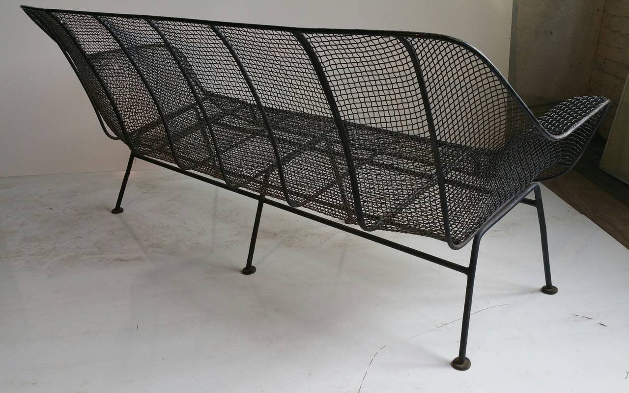 russell woodard wire mesh sofa sculptura four seater at 1stdibs
