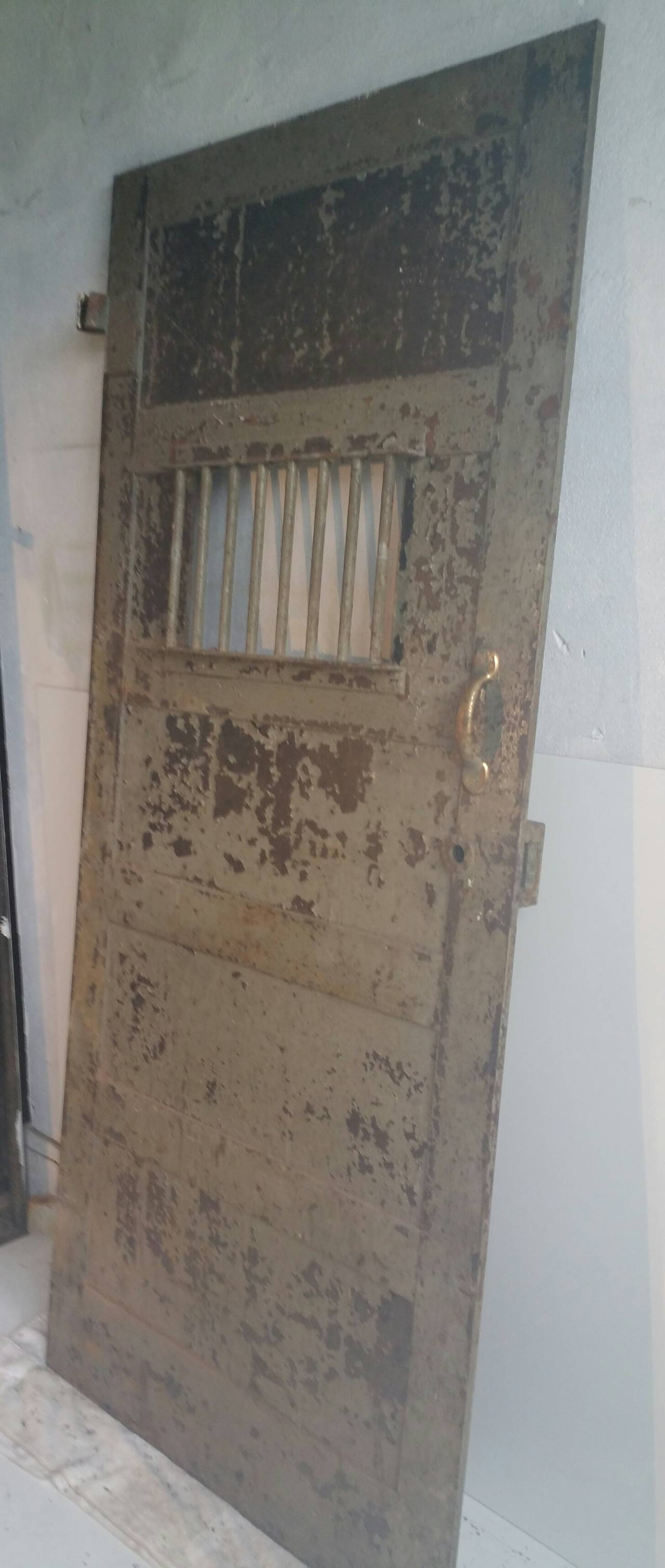 1920s Heavy Steel Prison Door At 1stdibs