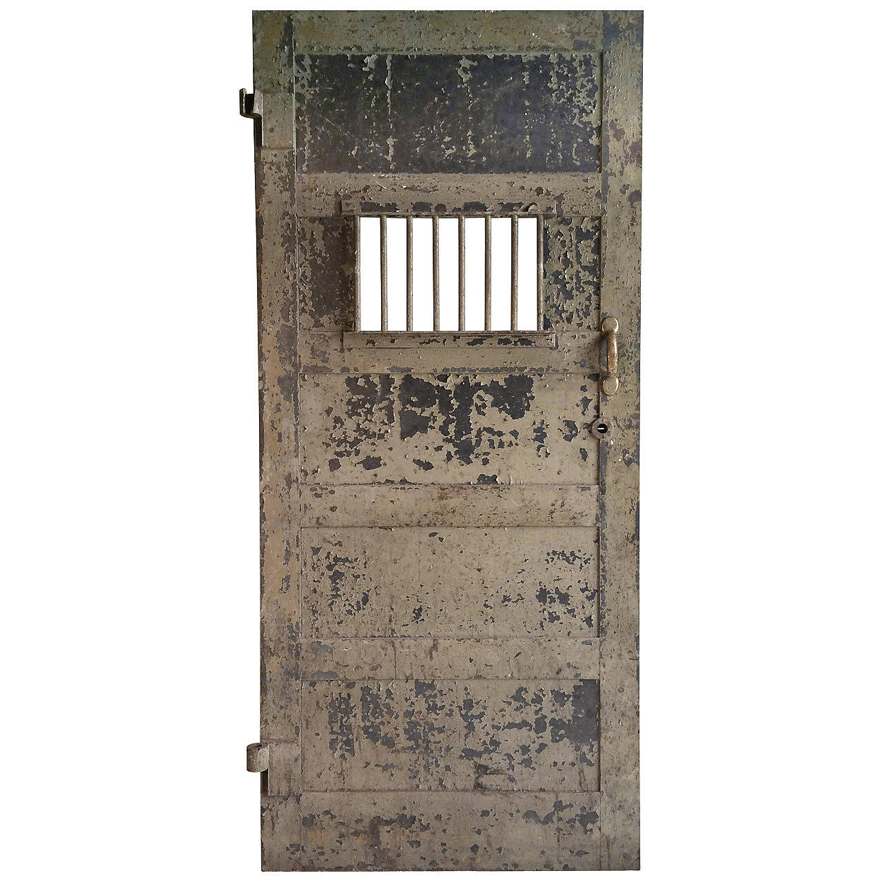 1920s Heavy Steel Prison Door At 1stdibs