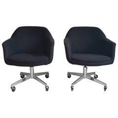 Pair of Mid-Century Modern Tilt Swivel Desk Chairs by Steelcase
