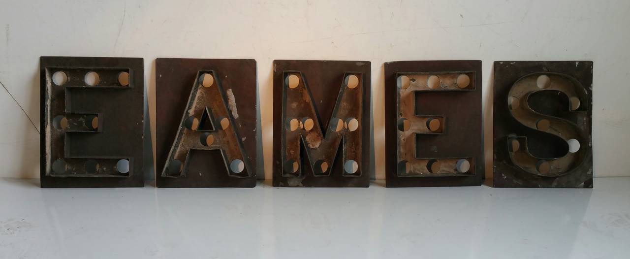 Antique Marquee Letters Shea S Theater Quot Eames Quot For Sale