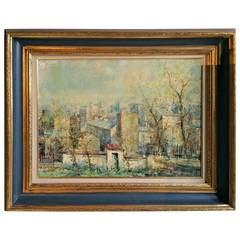 Oil on Canvas Paris Scene by Lucien Delarue, Modernist